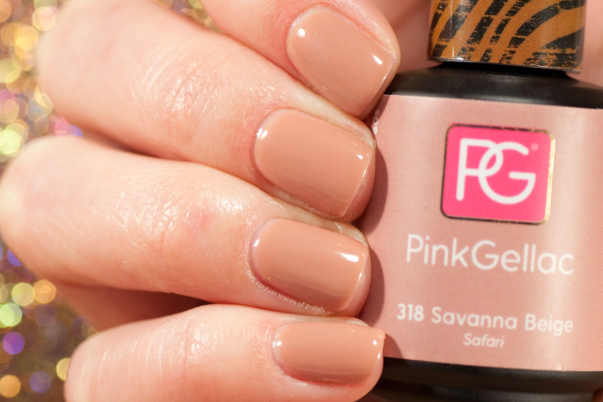 Pink Gellac Safari Collection Swatches - 318 Savanna Beige