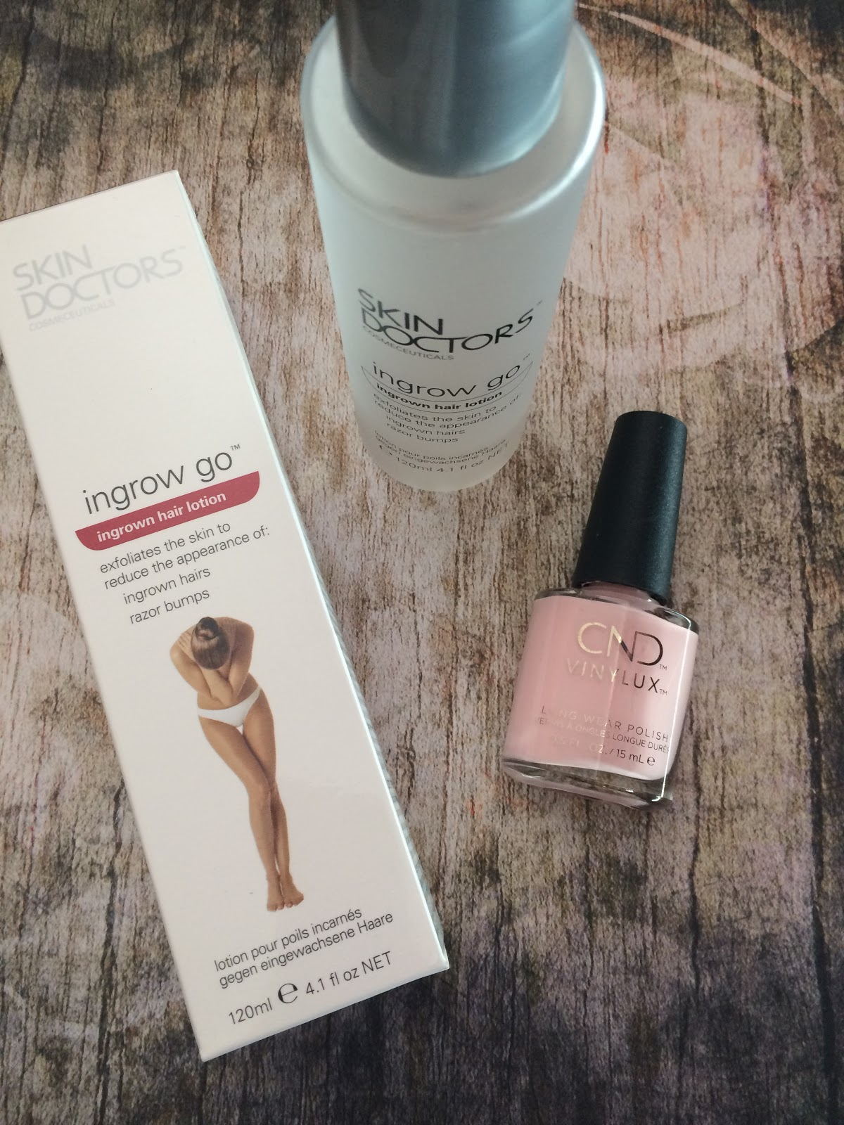 Skin Doctors Ingrow Go CND 7 day polish candied