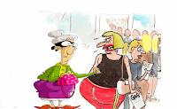 Un día, una anciana pasa por una fila de prostitutas que están haciendo cola para control médico. La viejita le pregunta a la última furcia que está parada en la cola: