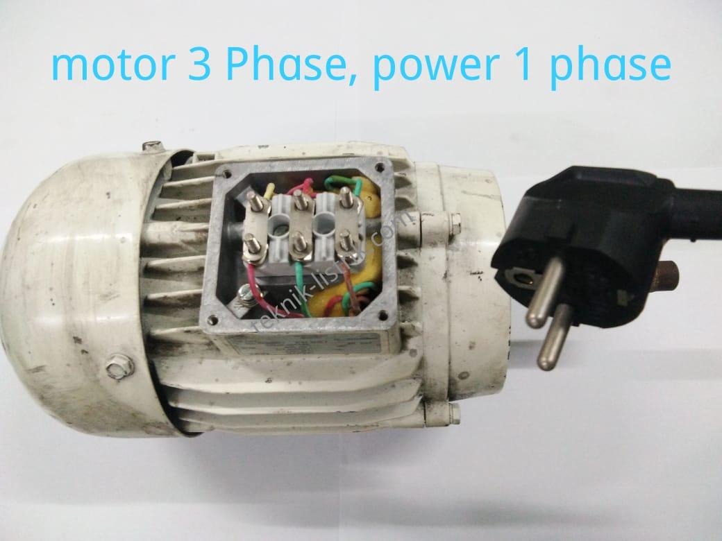 Motor 3 phase menjadi motor 1 phase