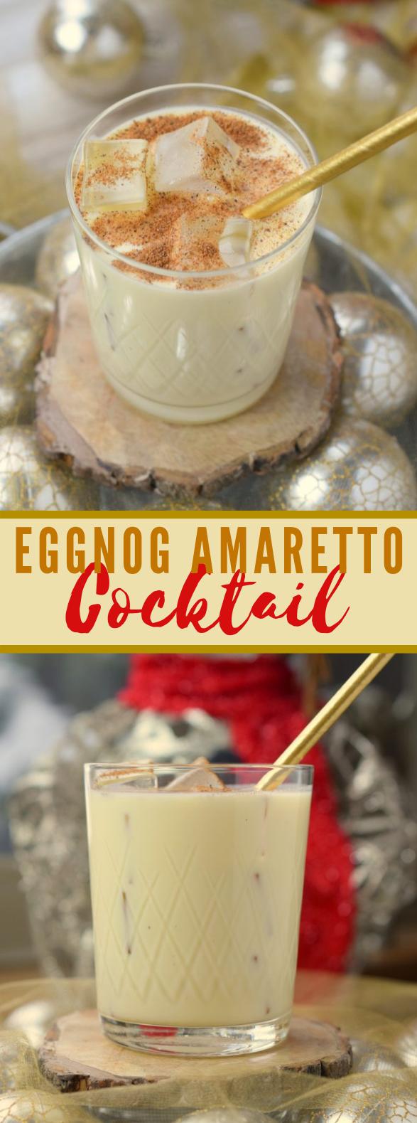 Eggnog Amaretto Cocktail #drinks #christmas
