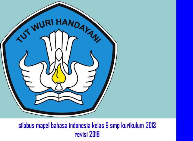 Silabus Bahasa Indonesia SMP Kelas 9 Kurikulum 2013 Revisi