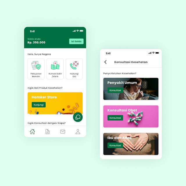 Dashboard Screen for Homker Mobile App