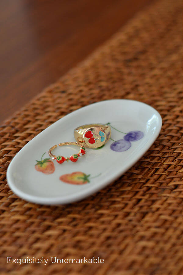 Hand Painted Ceramic Ring Dish
