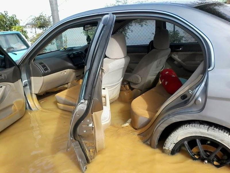 Tips kereta yang ditenggelami air banjir