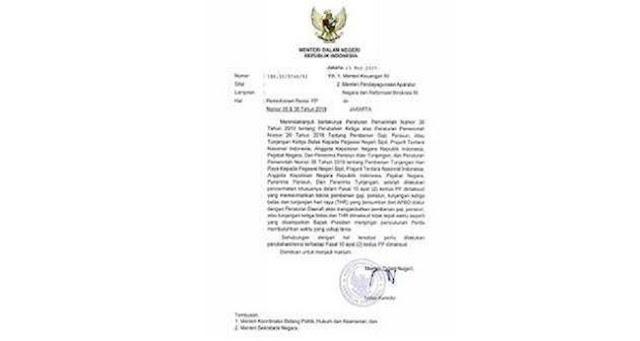 Lewat Surat Mendagri, THR Dan Gaji Ke-13 PNS Bakal Molor