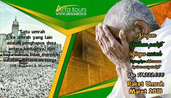 Paket Umrah Maret 2018 Jakarta Arfa Tour