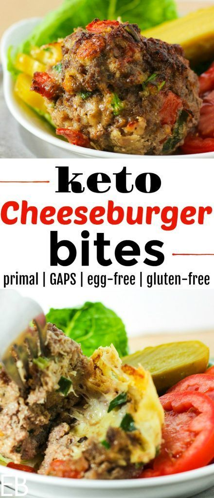 KETO Cheeseburger Bites (Primal & GAPS)