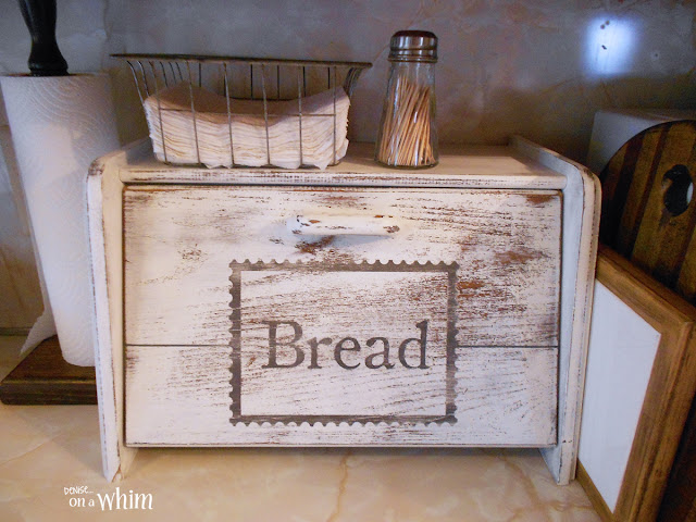Distressed Vintage Style Bread Box | Denise on a Whim