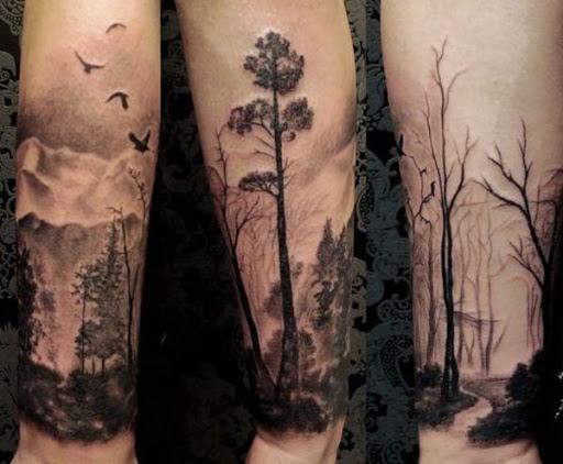 A partir de uma sala de floresta uma estranha um morto. Mesmo na diferença gritante, ambos os projetos são calmantes e pode mostrar a espiritualidade.