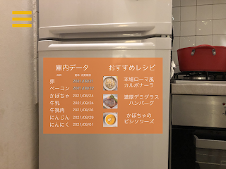AR調理アシスタントアプリ「ボーノ!Cooking」冷蔵庫内表示機能