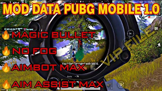 MOD DATA VIP FREE V3 PUBG MOBILE 1.0 | AIMBOT + AIM ASSIST MAX, MAGIC BULLET, LESS RECOIL + FIX LAG | HQT LAG