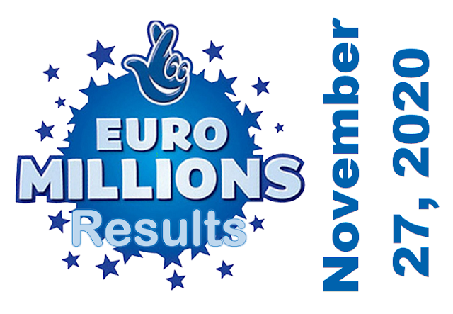 EuroMillions Results for Friday, November 27, 2020