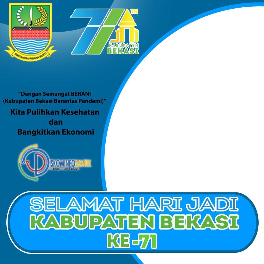 Desain Template Background Frame Bingkai Twibbon Ulang Tahun Kabupaten Bekasi 2021