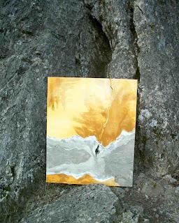 2 - Le mur blessé 4 - © Edith Smets - 90/100 - huile & technique diverses