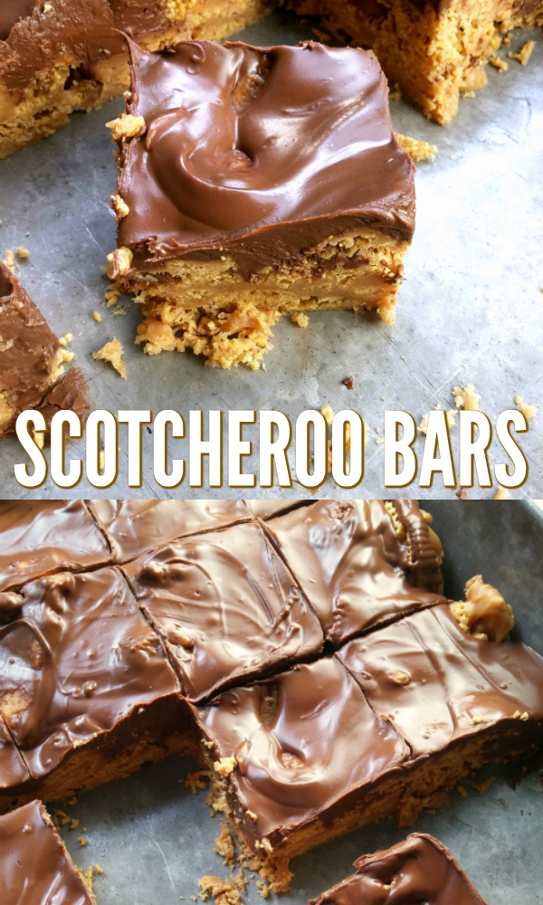 Peanut butter, chocolate chips, butterscotch morsels and Chex cereal in an easy and delicious bar recipe.