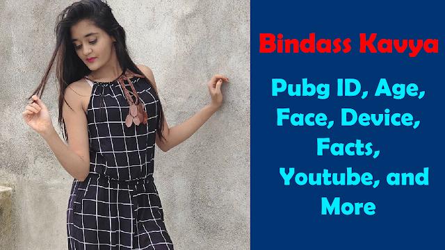 Bindass Kavya Pubg ID, Face, Pic
