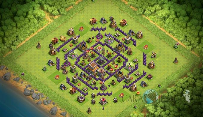 Base Trophy TH 8 di Clash Of Clans Terbaru Tipe 6