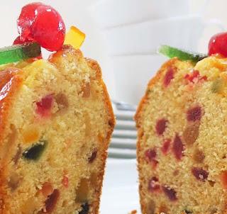 Cake con frutas confitadas