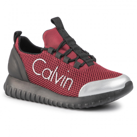 Sneakers CALVIN KLEIN JEANS de  visini de femei din panza