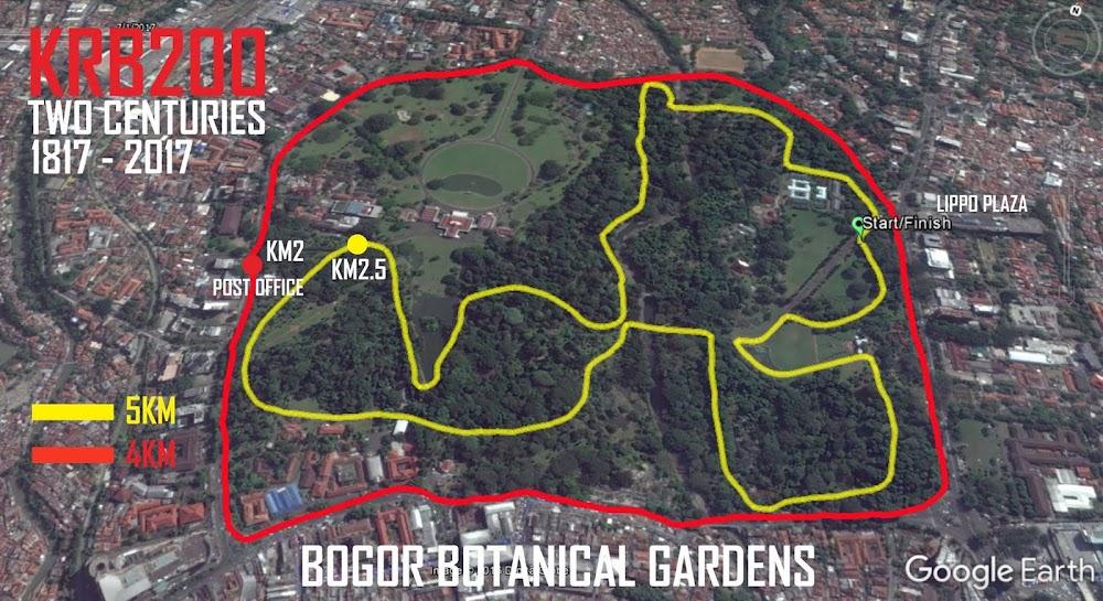 Kebun Raya Bogor 200K • course map