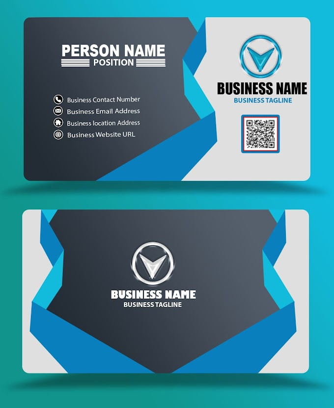 black blue business card design eps psd free download