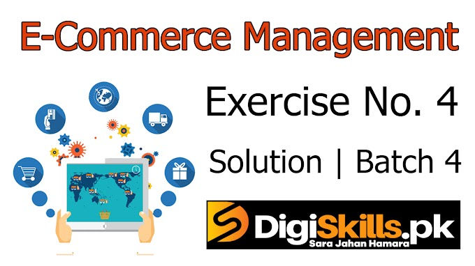 Digiskills E-Commerce Management | Exercise No. 4 Solution | Batch 4 | ECM101 Exercise No. 4 Solution | Study Planet