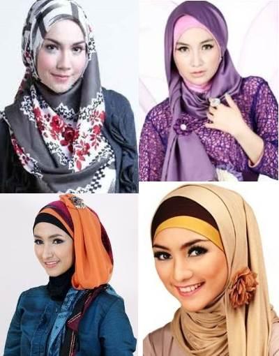 Contoh model hijab kain satin terbaru untuk pesta