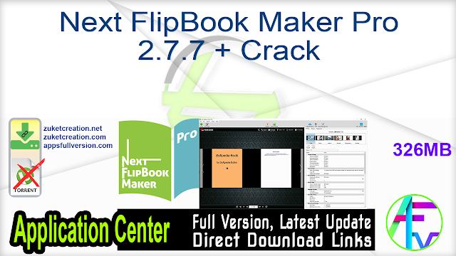Next FlipBook Maker Pro 2.7.7 + Crack