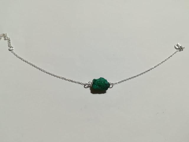Bracciale in argento con smeraldo grezzo naturale Pakistano