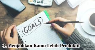 Menjadikan Kamu Lebih Produktif merupakan alasan penting mengapa kamu harus punya buku agenda