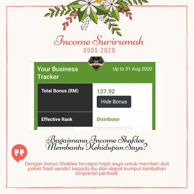 Bagaimana Income Shaklee Membantu Kehidupan Saya ?