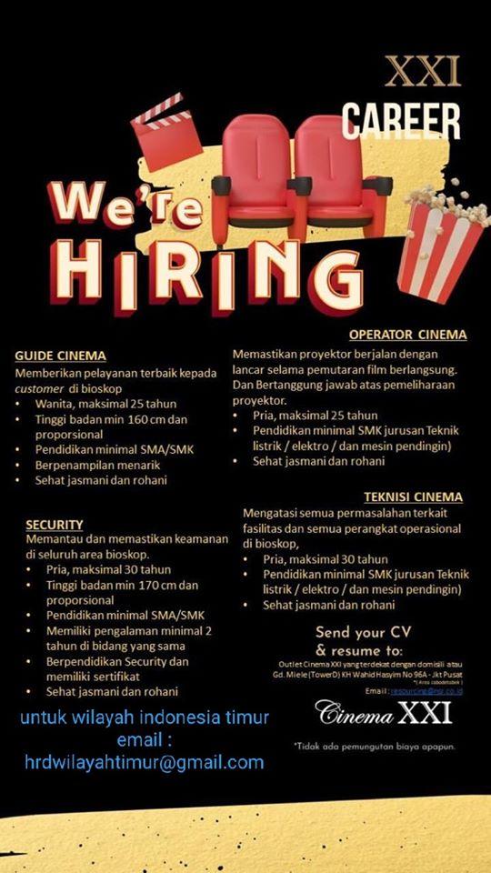 Lowongan Kerja di Cinema XXI Makassar - Lowongan Kerja ...