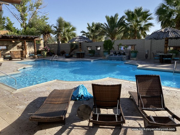 swimming pool for Los Portales section at Gage Hotel in Marathon, Texas