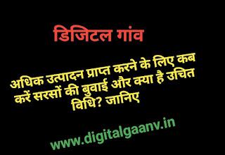 सरसों की खेती कब और कैसे करे पूरी जानकारी। sarso ki kheti karne ki vidhi