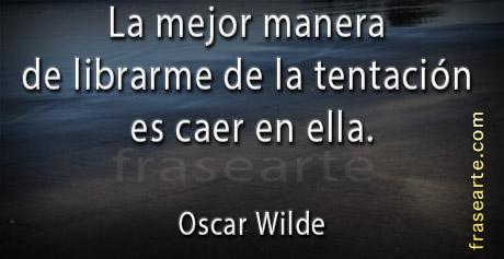 Frases sobre la tentación Oscar Wilde
