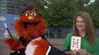 Magic Murray has a trick, number 9. Sesame Street Episode 4322 Rocco's Playdate season 43