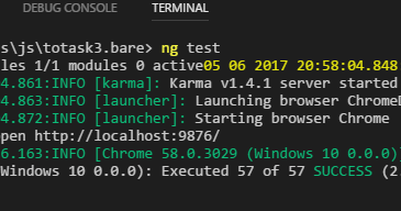 Debugging angular 4 Jasmin/Karma tests with Visual Studio Code