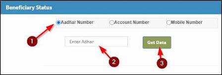 Enter Aadhar or Bank Details