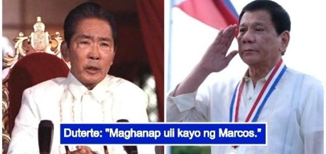 Duterte tells Filipinos to find new leader like Marcos amid gov't corruption