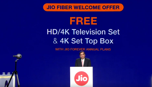 Reliance Jio Fiber Broadband Plans From Rs 700 a Month