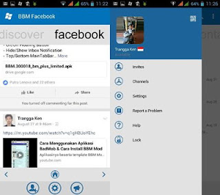 BBM MOD WP With Facebook Fragment V3.0.1.25 Apk