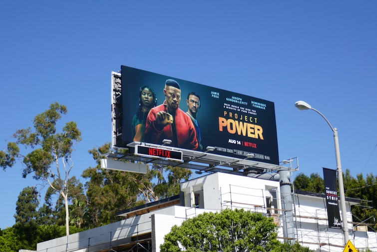 Project Power film billboard