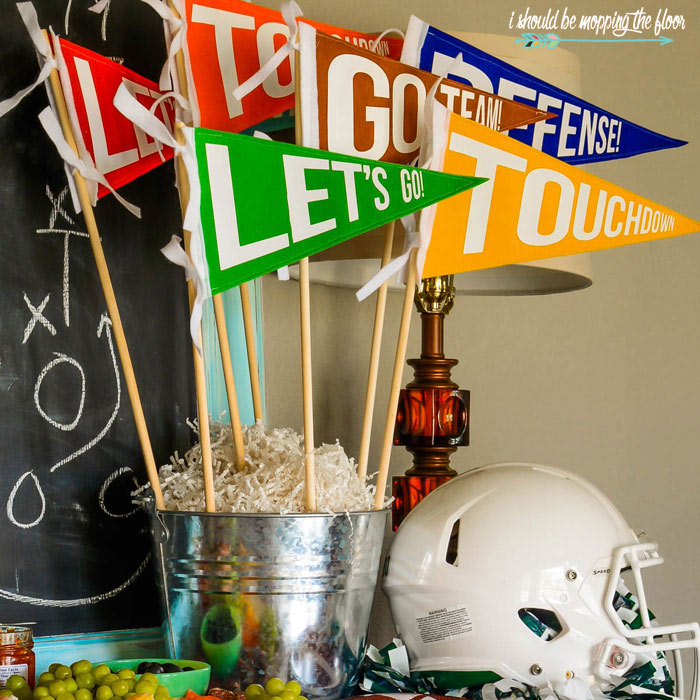 Football Party Centerpiece