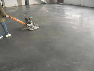 Pavimentación con hormigón pulido con litio