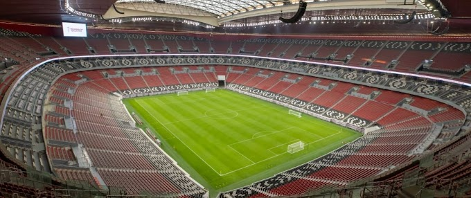 Fifa stadium Khalifa International, Al Janoub and Education City  Al Rayyan, Al Bayt and Al Thumama.Ras Abu Aboud and Lusail almost ready