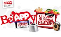 Logo BeAppy 2020 Coop Centro Italia : vinci buoni spesa e richiedi premi certi