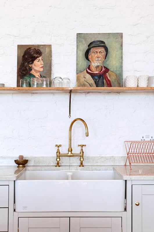 Retratos en la cocina