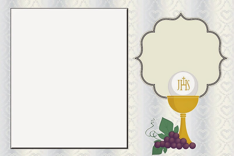 image relating to First Communion Invitations Free Printable named Very first Communion Totally free Printable Invites within just Silver, with