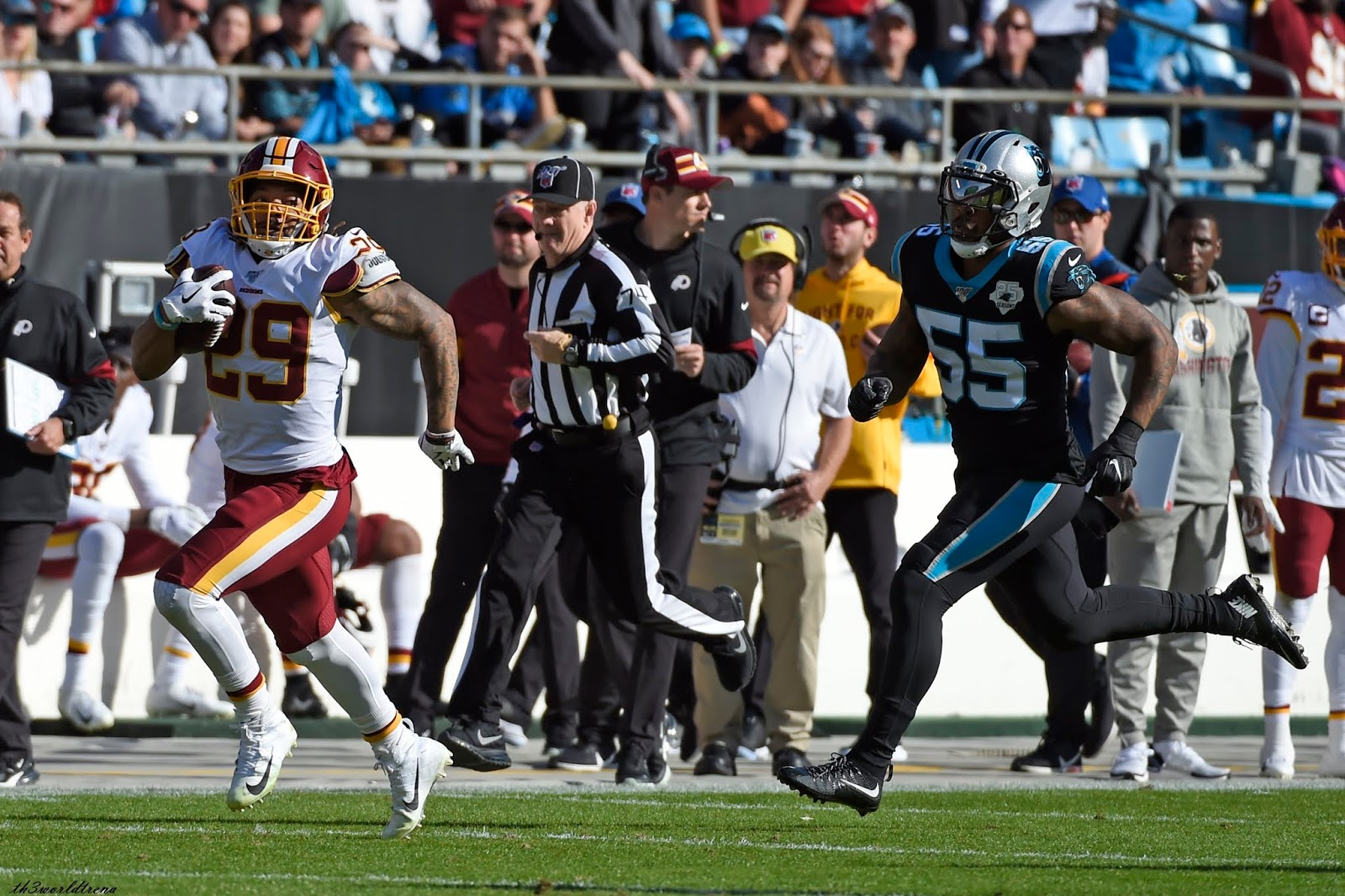 Redskins lead Panthers, 29-21, late within the fourth quarter